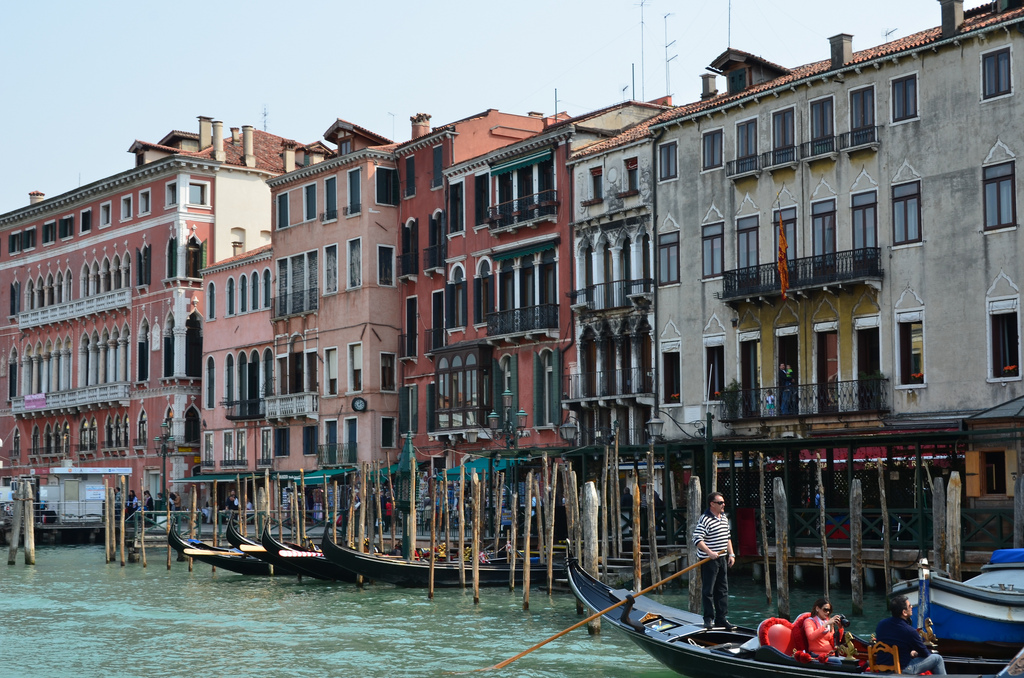 Views from the grand canal Venice